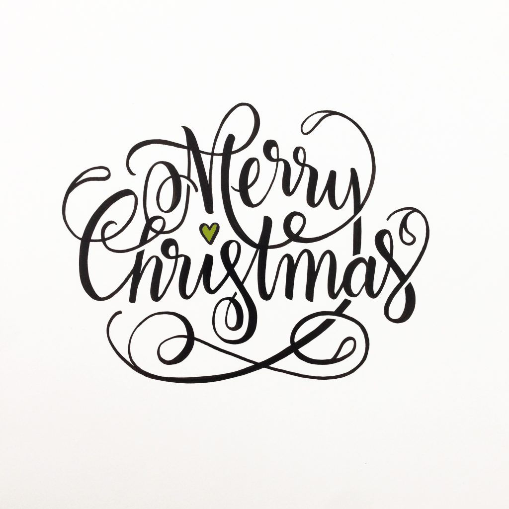 A Hand Lettered Merry Christmas Card | anjapircher.com