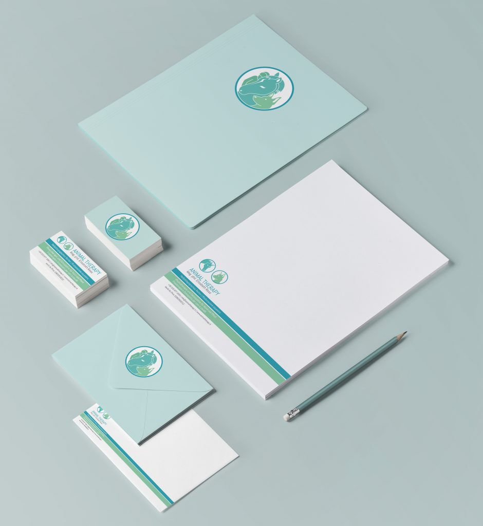veterinary logo and corporate identity