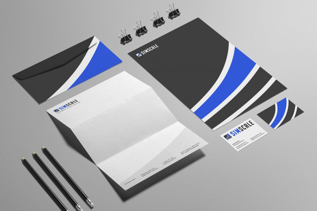 tech startup logo design and corporate identity