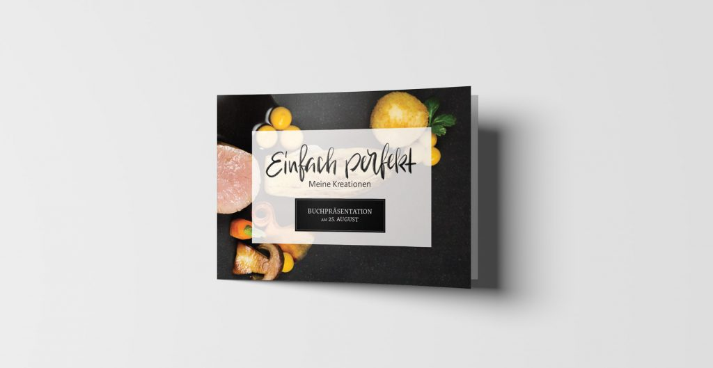 Cookbook Design Invitation Card