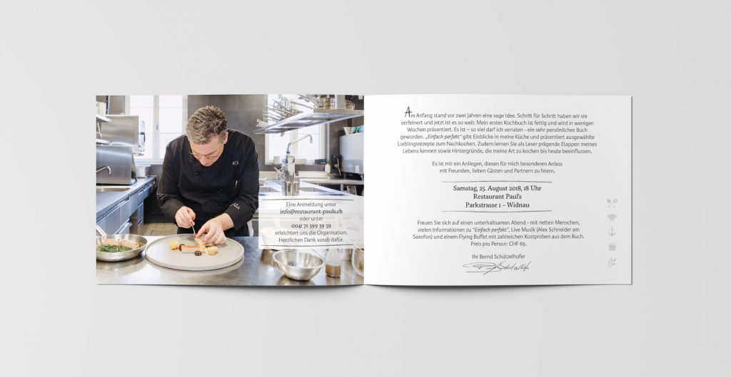 Cookbook Design Invitation Card Inside